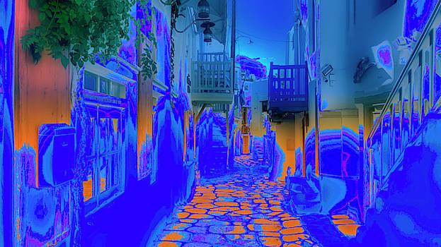 Mykonos - Alley by Nicholas V K