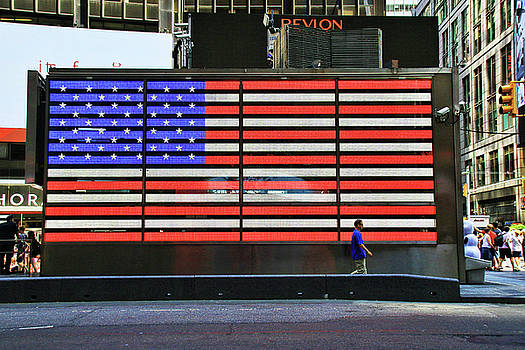 Neon American Flag by Allen Beatty