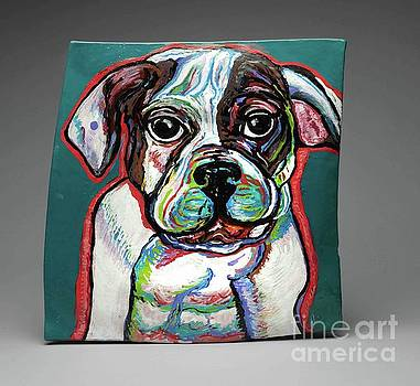 Neon Bulldog by Ann Hoff