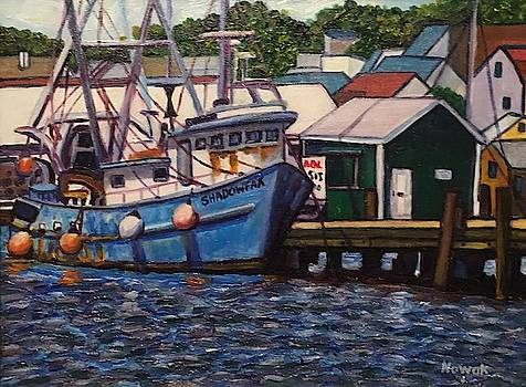 Newport Blue Boat by Richard Nowak