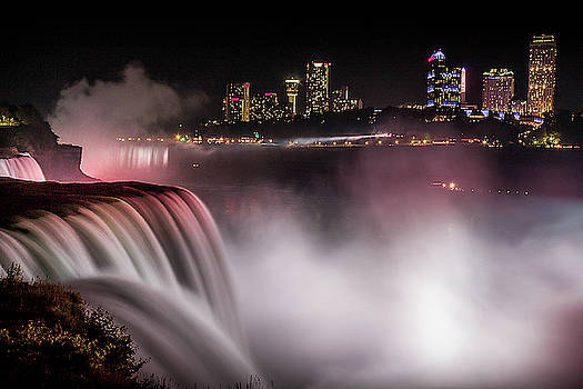Niagara Falls at Night by Johnathan Erickson
