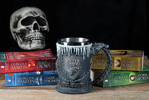 Official House Stark tankard from Game of Thrones series by Steven Heap