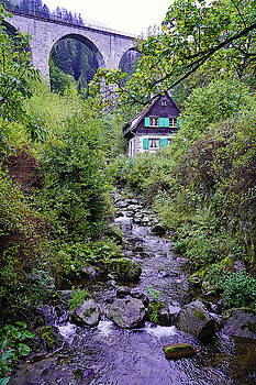 Old Bavarian House In The Breitnau Area Of The Black Forest by Richard Rosenshein