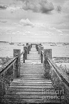 Old Dock Hyannis Port Cape Cod MA by Edward Fielding
