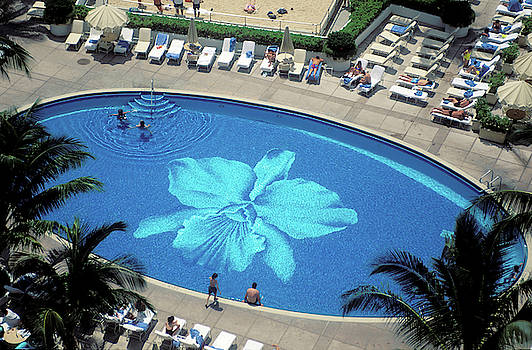 Orchid Pool at the Kalahani Hotel in Honolulu by Carl Purcell