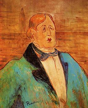 Oscar Wilde -1895 - PC - Painting - watercolor by Henri de Toulouse-Lautrec