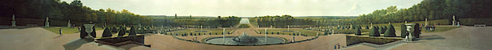Panoramic View of the Palace and Gardens of Versailles  by MotionAge Designs
