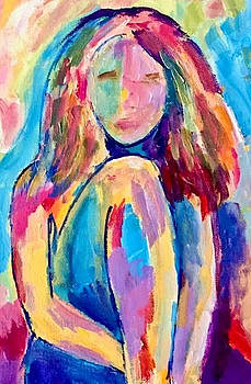 Pensive Girl by Carol Stanley