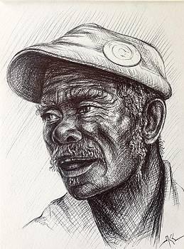 Portrait of a man by Katerina Kovatcheva