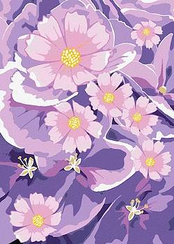 Purple Abstract Flowers by Gabriella Weninger - David