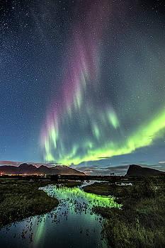 Purple auroras by Frank Olsen