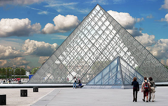 Pyramid at Louvre in Paris by Carl Purcell