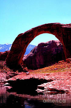 Rainbow Bridge and Navajo Mountain  by Thomas R Fletcher