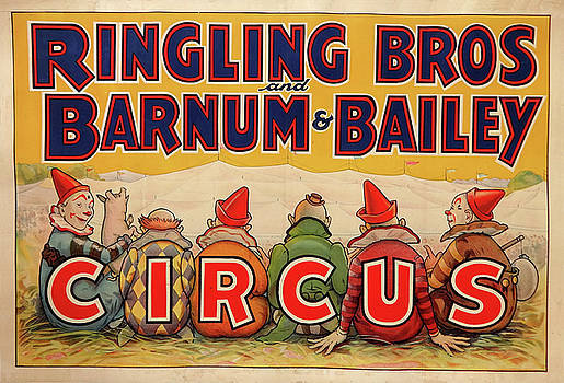 Ringling Bros and Barnum and Bailey Circus - Vintage Advertising Poster by Siva Ganesh