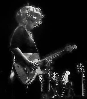 Samantha Fish in Black and White as art by Alan Goldberg