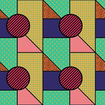 Seamless Pattern In Geometric Style by Iryna Omelchak