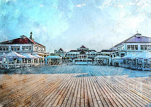 Sopot watercolor city art by Justyna Jaszke JBJart