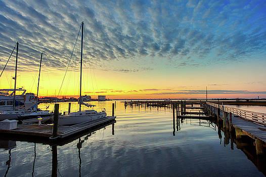 Southport Yacht Basin Sunrise by Nick Noble