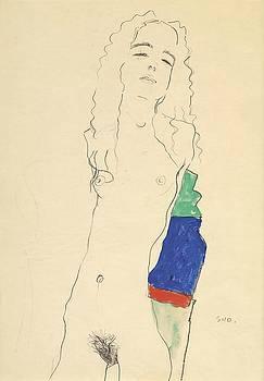 Egon Schiele - Standing Female Nude