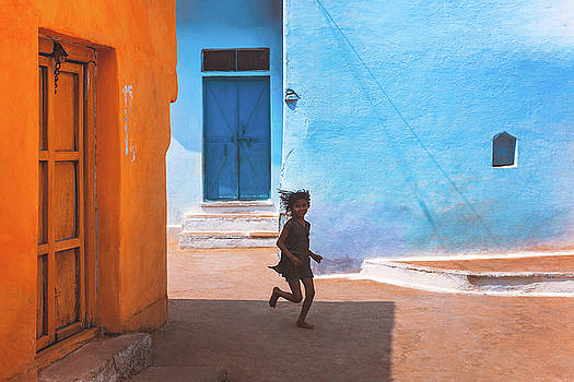 Streetcorner by Marji Lang