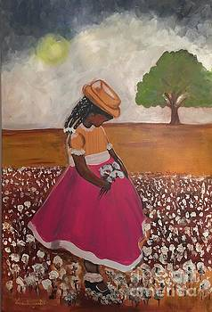Summer time in the country at Grannys. THESE COTTON PICKING FLOWERS ? by Lisa Gilyard