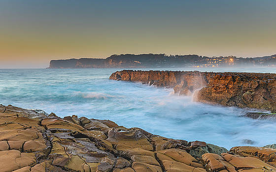 Sunrise Headland Seascape by Merrillie Redden