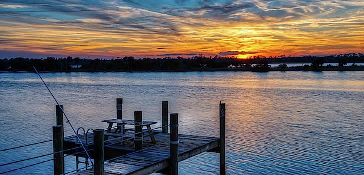 Sunset Dock by Dillon Kalkhurst