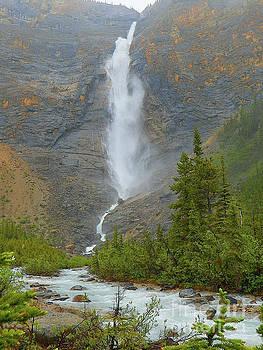 Rainy Day Takakkaw Falls Yoho National Park British Columbia Canada by Art Sandi