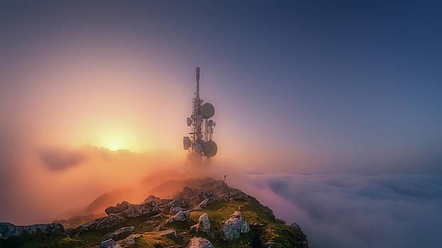 telecommunications tower on Oiz mountain by Mikel Martinez de Osaba
