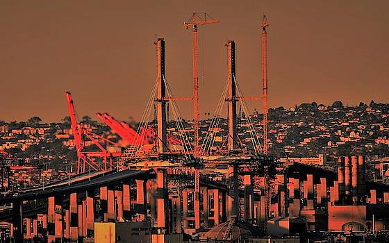 The Gerald Desmond Bridge  by John R Williams