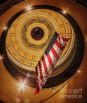 The Old Vanderburgh County Courthouse by Warrena J Barnerd