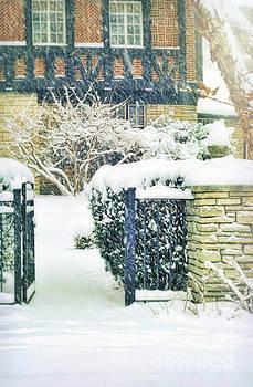 Tudor House in Snow by Jill Battaglia