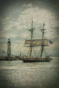U. S. Brig Niagara Entering Buffalo Harbor by Guy Whiteley