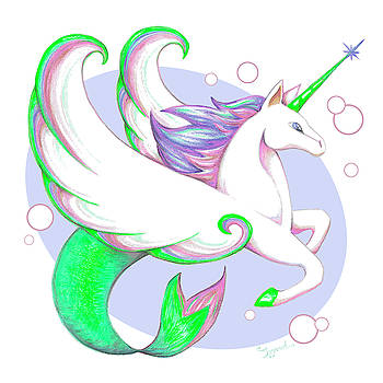 Unicorn of the Sea II by Sipporah Art and Illustration
