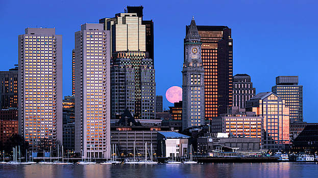 Thomas Gaitley - Vernal Equinox and the Worm Moon Over Boston