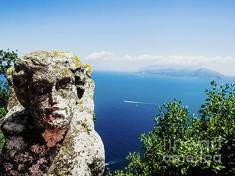 View of the coast of Naples from the top of the cliffs. by Joaquin Corbalan