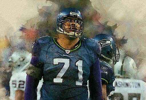 Walter Jones Jr.Seattle Seahawks. by Nadezhda Zhuravleva