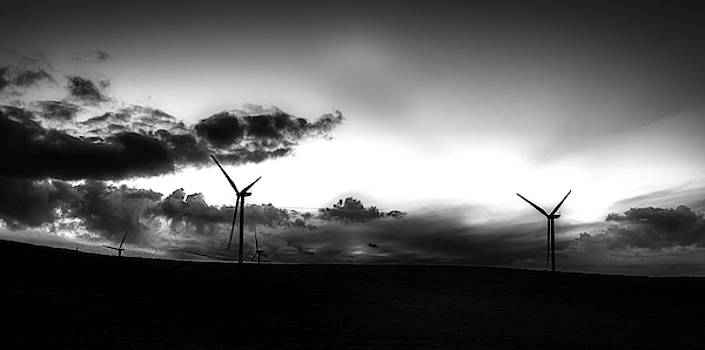 Wind Farm Silhouettes by Mountain Dreams