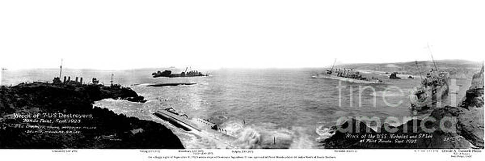 California Views Archives Mr Pat Hathaway Archives - Wreck of 7 U.S. Navy Destroyers at Hondo Point Sept 1923