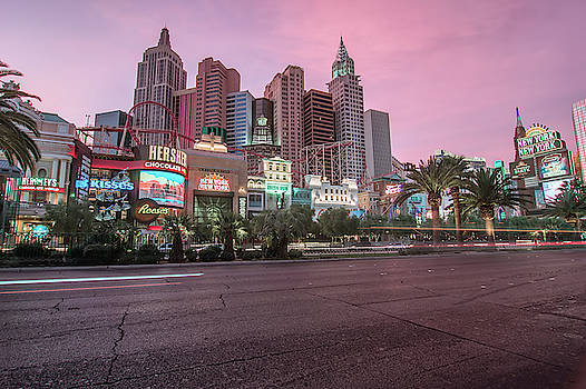 New York City Skyline In Las Vegas Nevada by Alex Grichenko