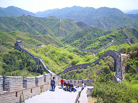 Beautiful photograph of the Great Wall of China. by Steve Clarke