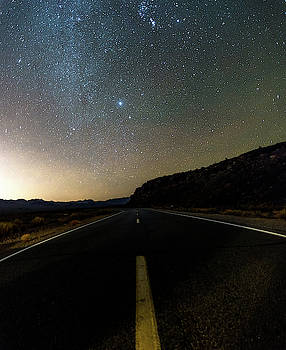 Night time and dark sky over death valley national park by Alex Grichenko