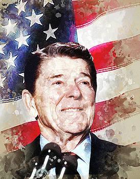 Ronald Wilson Reagan by Elena Kosvincheva