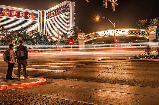 High Energy Electric Long Exposure Of Las Vegas City Streets At  by Alex Grichenko