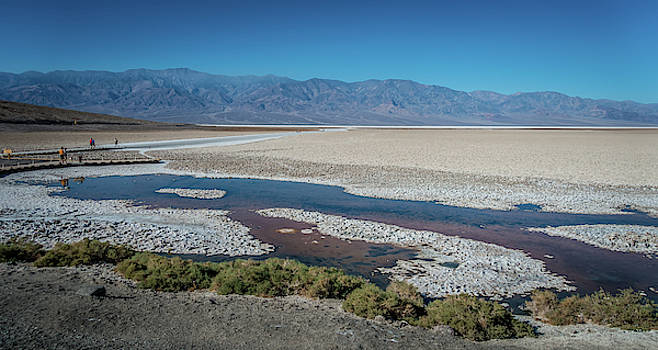 Badwater Basin Death Valley National Park California by Alex Grichenko