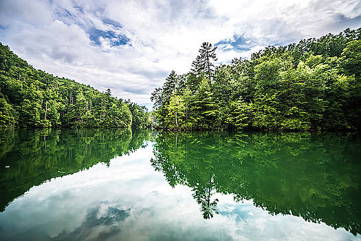 Boating And Camping On Lake Jocassee In Upstate South Carolina by Alex Grichenko