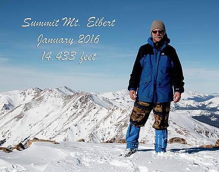 Summit of Mount Elbert Colorado in Winter by Steve Krull