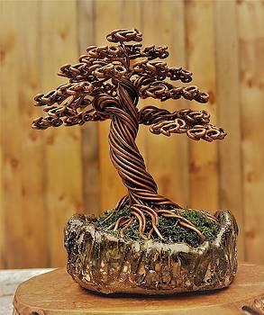 #172 Copper Wire Tree Sculpture by Ricks Tree Art