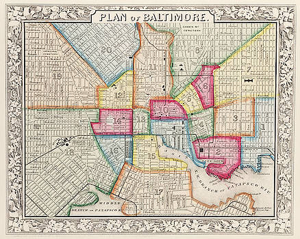 Toby McGuire - 1860 City Planner map of Baltimore Maryland