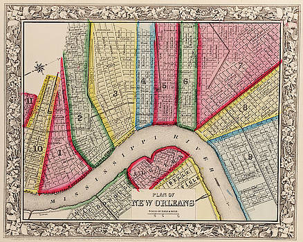 Toby McGuire - 1860 New Orleans City Plan Map